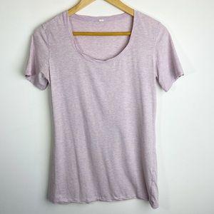 Lululemon Short Sleeve Tee Heathered Lilac Size 6